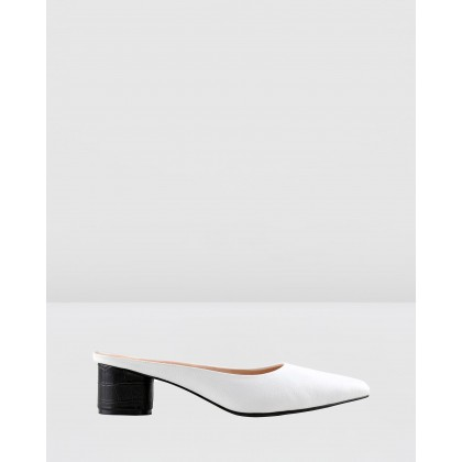 Diana Mules White by Sol Sana