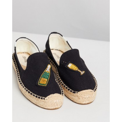 Cheers Smoking Slippers Black by Soludos