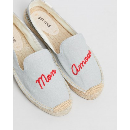 Mon Amour Smoking Slippers Chambray by Soludos