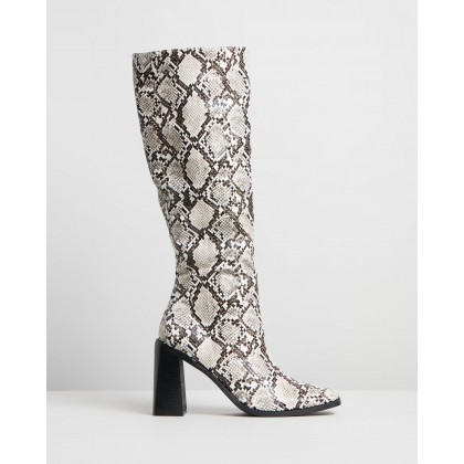 Halston Boots Snakeskin by Spurr
