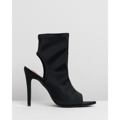 Erin Ankle Boots Black Lycra by Spurr