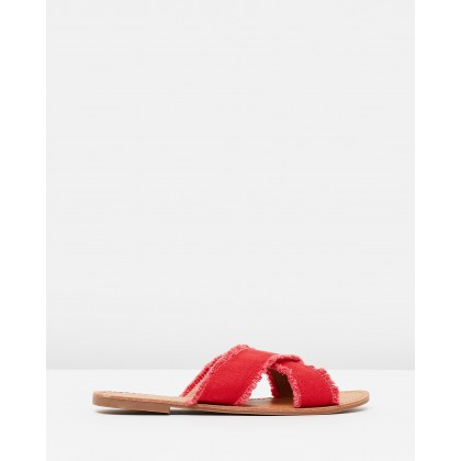Taija Sandals Red Canvas by Spurr