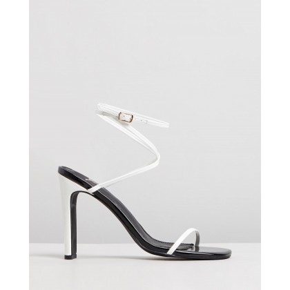 Jacqueline Heels White Patent by Spurr
