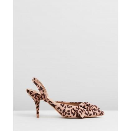 Debbie Heels Leopard Microsuede by Spurr
