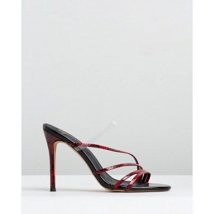 Bess Heels Red Snake & Black Patent by Spurr