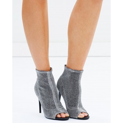 Rozina Sock Boots Silver by Spurr