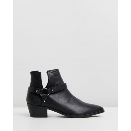Abela Ankle Boots Black Smooth by Spurr