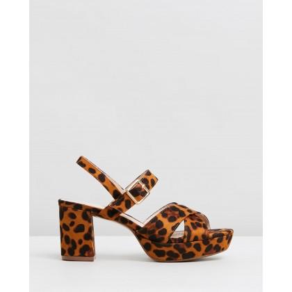 Cecil Heels Leopard Microsuede by Spurr