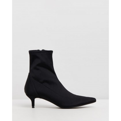 Hazel Ankle Boots Black Lycra by Spurr