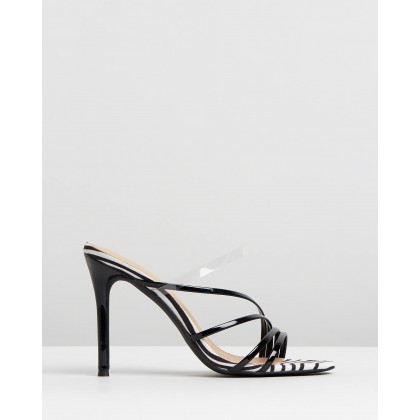 Bess Heels Black Patent & Zebra by Spurr