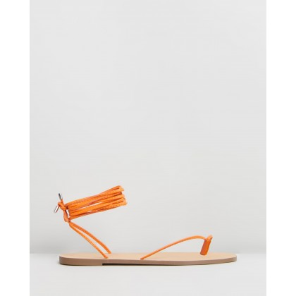 Narciso Sandals Tangerine Smooth by Spurr