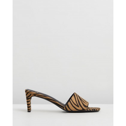 Izzy Mules Leopard Microsuede by Spurr