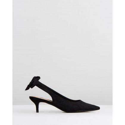 Holly Heels Black Microsuede by Spurr
