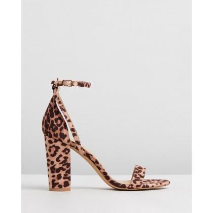 Eleni Block Heels Leopard Microsuede by Spurr