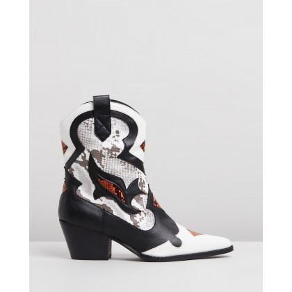 Kamila Boots Multi Snakeskin by Spurr