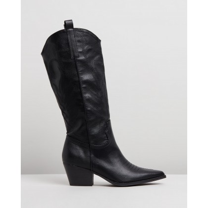 Karin Boots Black Smooth by Spurr