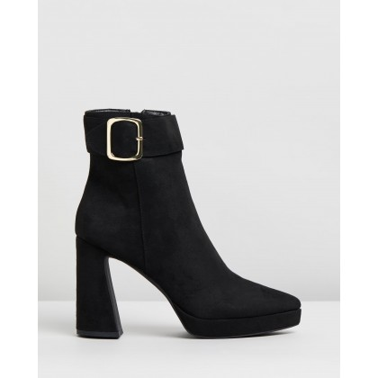 Kink Boots Black Microsuede by Spurr