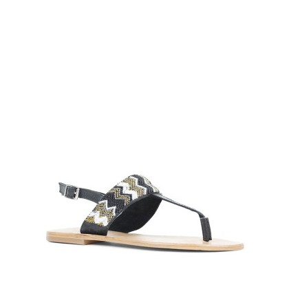 Tahni - Black/Gold by Siren Shoes