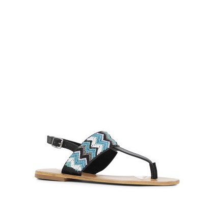 Tahni - Black/Turquoise by Siren Shoes