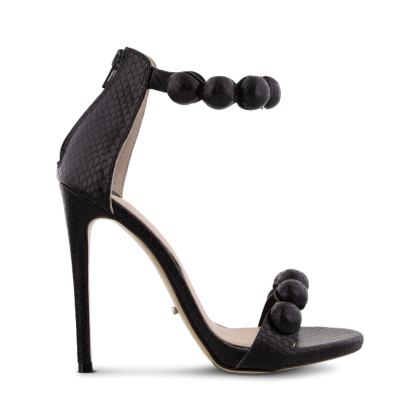 Avia Black Snake Heels by Tony Bianco Shoes
