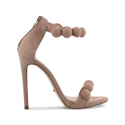 Avia Blush Kid Suede Heels by Tony Bianco Shoes