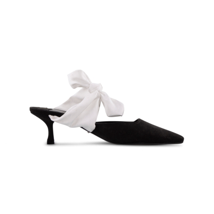 Bakari Black Phoenix/Ivory Heels by Tony Bianco Shoes