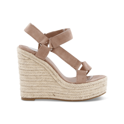 Buffy Blush Kid Suede Wedges by Tony Bianco Shoes