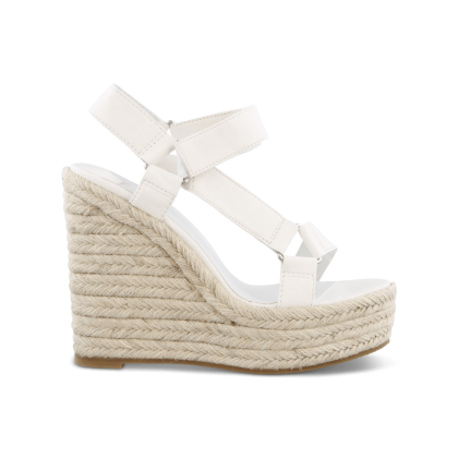 Buffy White Sheep Nappa Wedges by Tony Bianco Shoes
