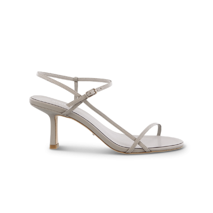 Caprice Grey Kid Heels by Tony Bianco Shoes