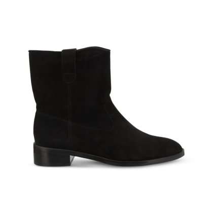 Conor Black Kid Suede Ankle Boots by Tony Bianco Shoes
