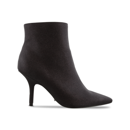 Elia Black Glitter Ankle Boots by Tony Bianco Shoes