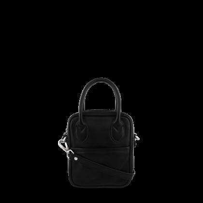 Ena Black Leather Cross Body Bag by Tony Bianco Shoes