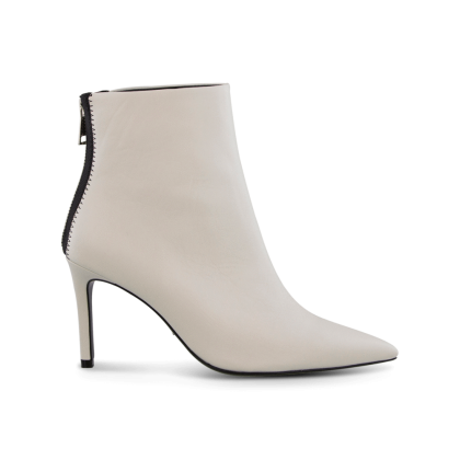 Esha Milk Capretto Ankle Boots by Tony Bianco Shoes
