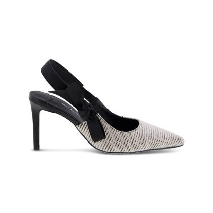Evita White/Black Osaka Heels by Tony Bianco Shoes
