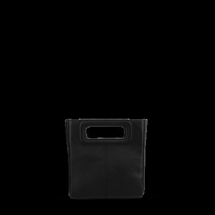 Faith Black Leather Clutch Bag by Tony Bianco Shoes