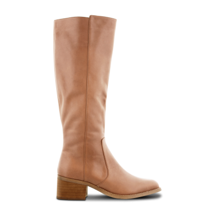 Fantasia Caramel Diesel Polish Long Boots by Tony Bianco Shoes