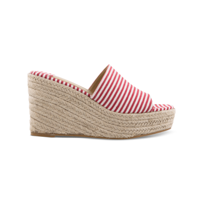 Farren Red/White Havana Wedges by Tony Bianco Shoes