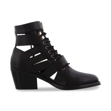 Felix Black Jetta Polish Ankle Boots by Tony Bianco Shoes