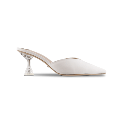 Glimmer Milk Capretto Heels by Tony Bianco Shoes