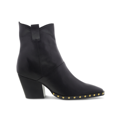 Haines Black Diesel Polish Ankle Boots by Tony Bianco Shoes