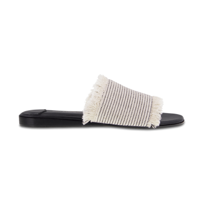 TONY BIANCO - Jayd White/Black Osaka Flats by Tony Bianco Shoes