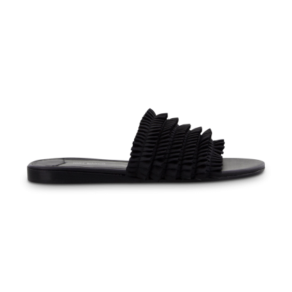 TONY BIANCO - Jerzy Black Grosgrain Flats by Tony Bianco Shoes