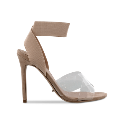 Kami Clear Vynalite/Blush Kid Suede Heels by Tony Bianco Shoes