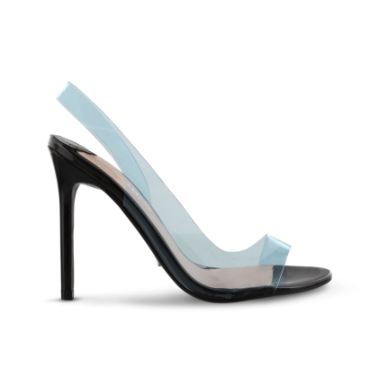Kandis Blue Vynalite Heels by Tony Bianco Shoes