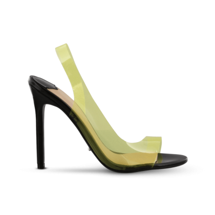 Kandis Yellow Vynalite Heels by Tony Bianco Shoes
