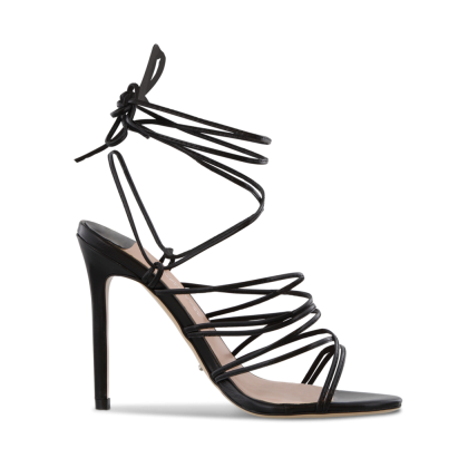 Keisha Black Kid Heels by Tony Bianco Shoes