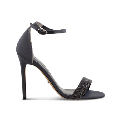 Kristan Gunmetal Luxe Satin Heels by Tony Bianco Shoes