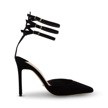 Las Black Kid Suede Heels by Tony Bianco Shoes