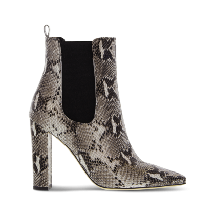 Lavida Natural Snake Ankle Boots by Tony Bianco Shoes