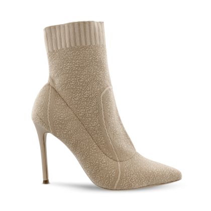 Leah Biscuit Boucle Ankle Boots by Tony Bianco Shoes